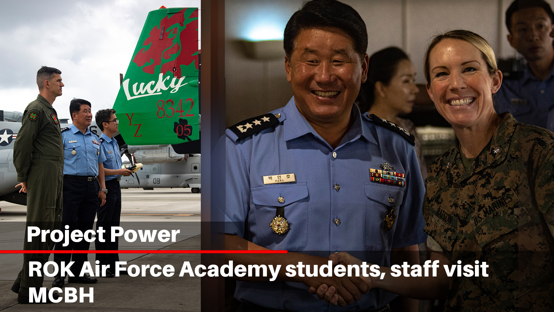 ROK Air Force Academy students, staff visit MCBH
